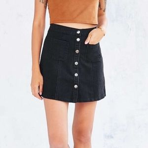 urban outfitters BDG black button front skirt